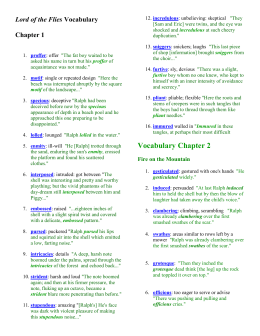 Worksheets Lord Of The Flies Vocabulary Worksheet collection of lord the flies vocabulary worksheet sharebrowse vocabulary
