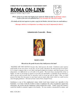 e-newsletter of the congregation of the brothersof charity