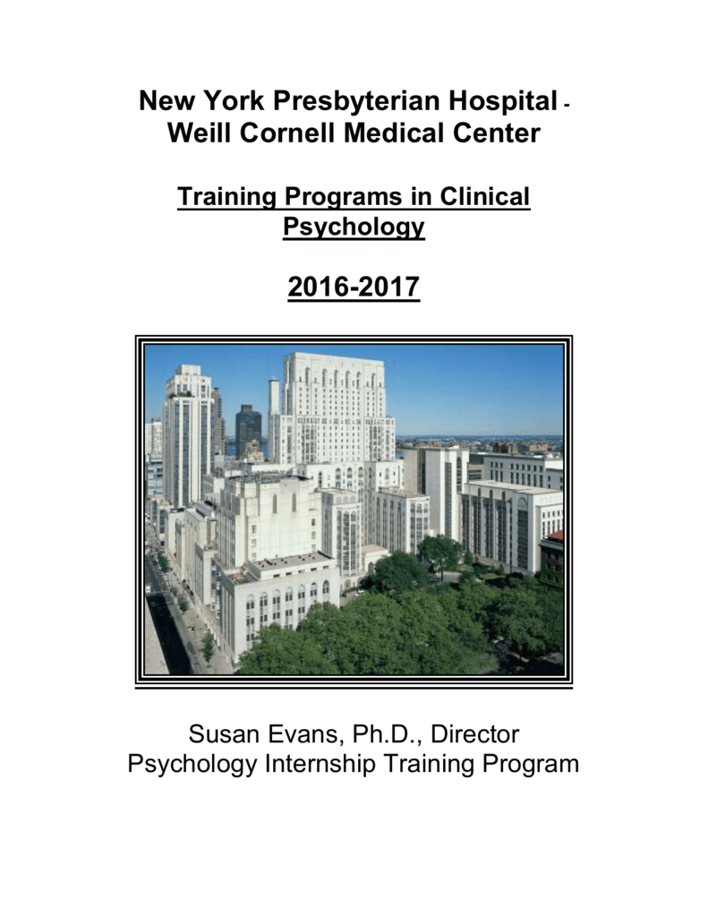 The New York Hospital- - Weill Cornell Department of Psychiatry