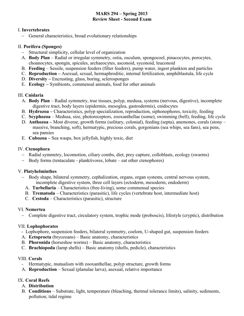 Review Sheet - University of San Diego