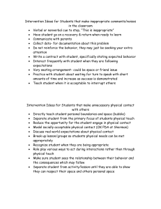 Intervention Ideas for Students that make