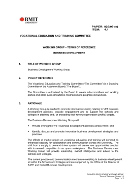 PAPER: 026/09 (e) ITEM: 4.1 VOCATIONAL EDUCATION AND