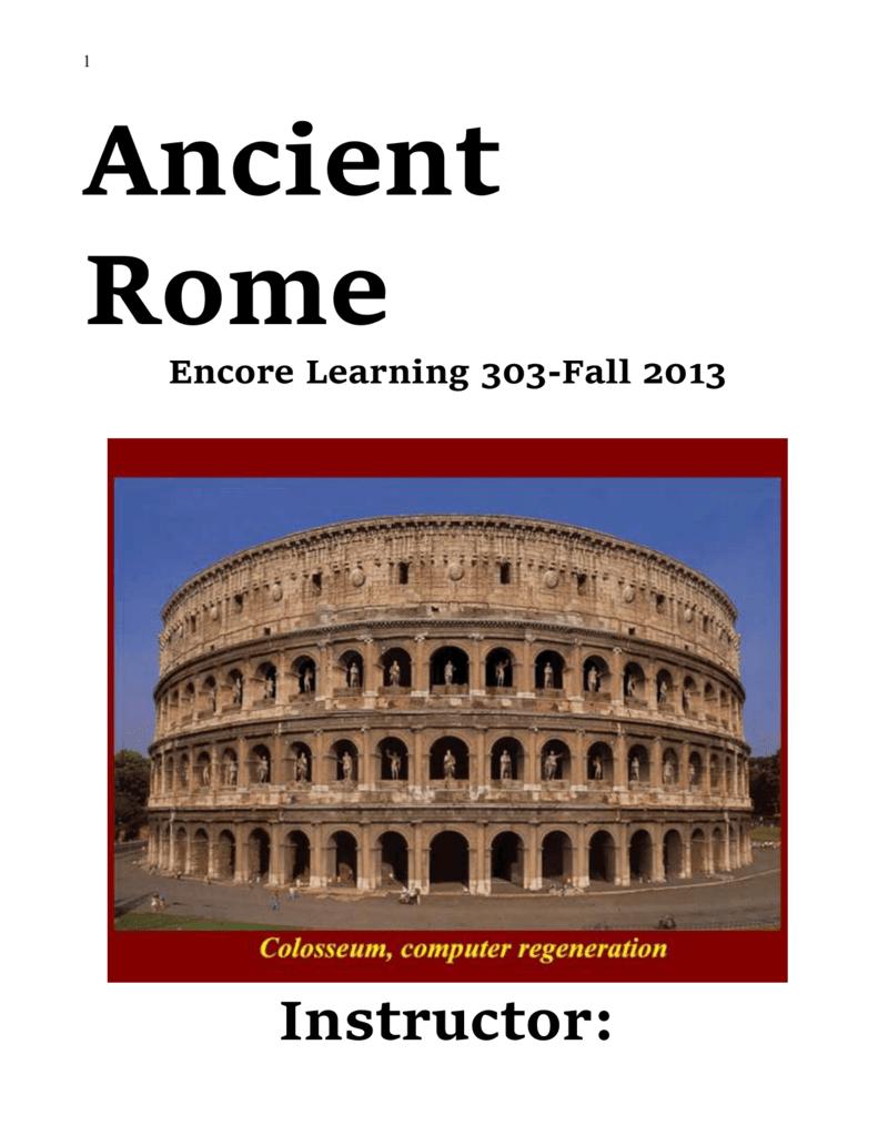 Classical Rome  Archeology d0e5244e423