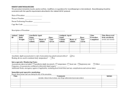 Rodent Anesthesia Record Template