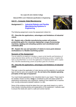 Industrial Robots and Flexible Manufacturing Systems In