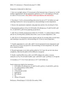 Ethanol precipitation of DNA (General protocol)