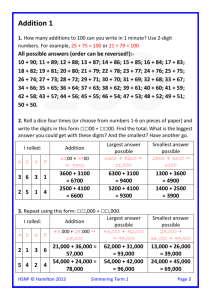 Simm Add 1 2 3 and 4 digit numbers HW answers