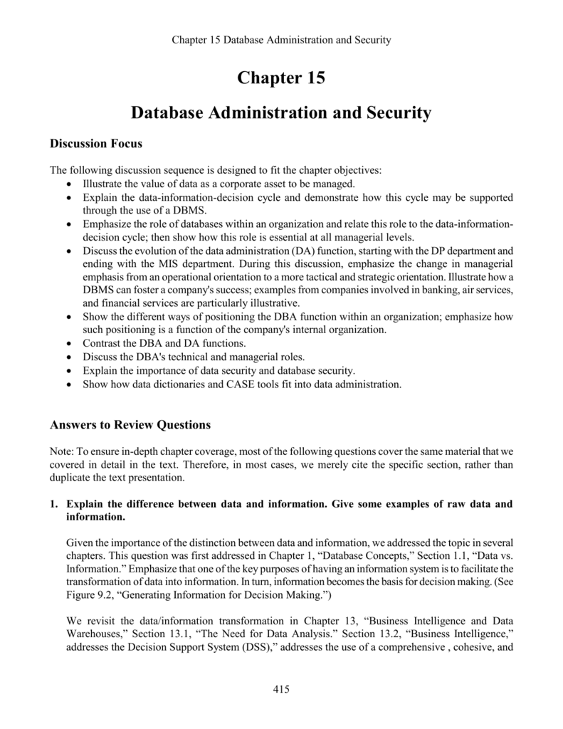 Chp15 Database Protection Dbms