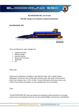 BLOODHOUND SSC unit of work KS4 D&T design and realisation