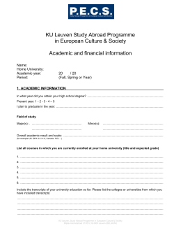 academic information form