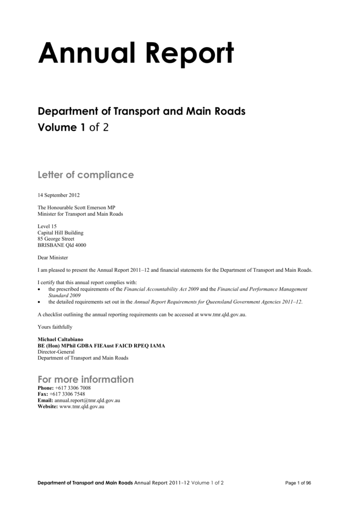 Transport and main roads annual report 2011 12 yelopaper Choice Image