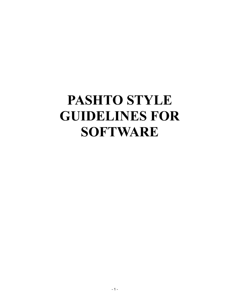 pashto style guidelines for software - Center