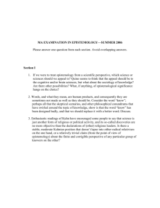 MA EXAMINATION IN EPISTEMOLOGY—SPRING 2006
