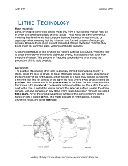 LAB 3 lithic technology handout