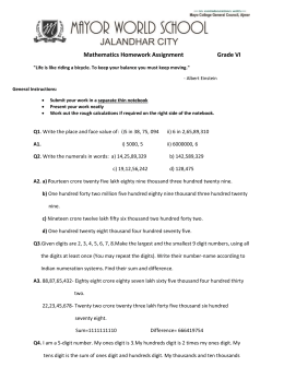 b) - Mathematics Worksheet