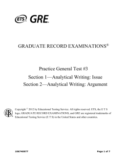 GRE Analytical Writing Course