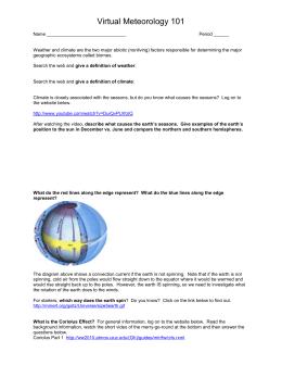 29. Weather Map Worksheet #2