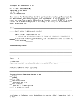 Please print this form and return to: