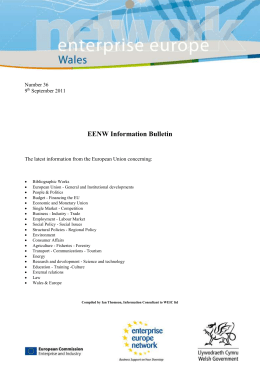 Number 36 9th September 2011 EENW Information Bulletin The