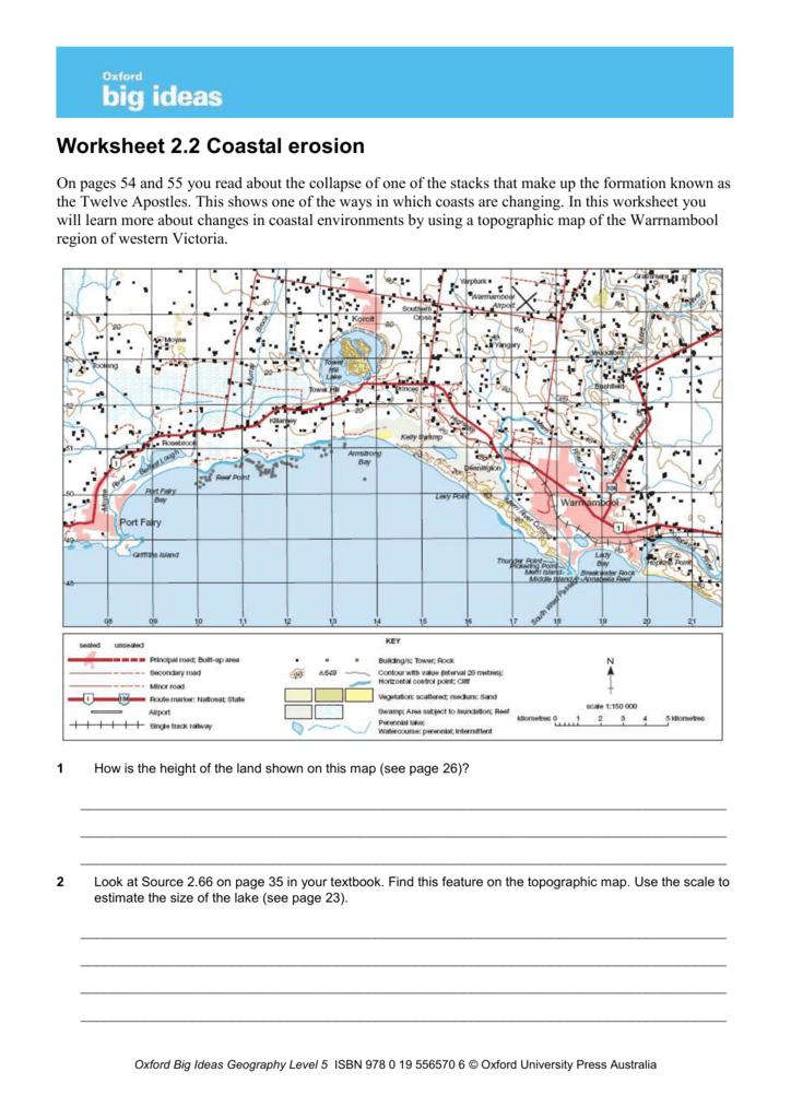 Worksheet 2 2—Coastal erosion