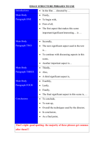 ESSAY STRUCTURE PHRASES TO USE