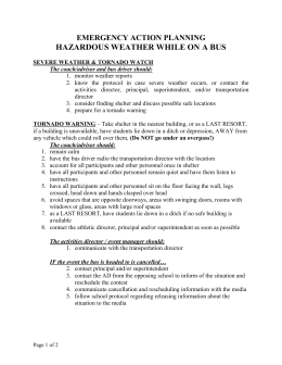 Bus & Hazardous Weather - Iowa High School Athletic Association