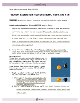 Student Exploration Sheet: Growing Plants