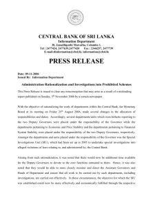 press release - Central Bank of Sri Lanka
