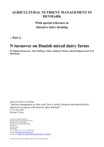 N turnover on Danish mixed dairy farms