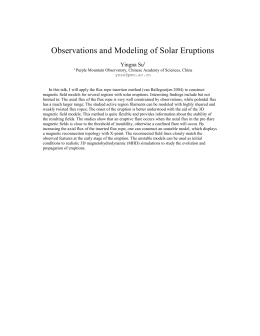Observations and Modeling of Solar Eruptions