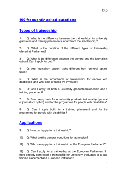 Frequently Asked Questions - European Parliament
