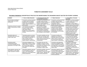 formative assessment scale - Santa Maria