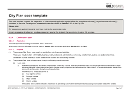 Centre zone code - Gold Coast City Council