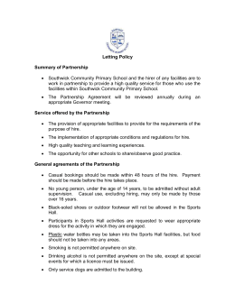 Letting Policy 2015 - Southwick Community Primary School