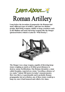 Learn About Roman Artillery