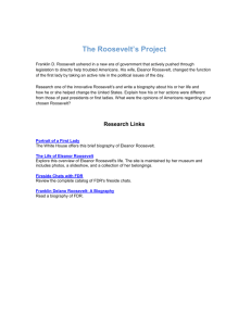 The Roosevelt`s Research Project