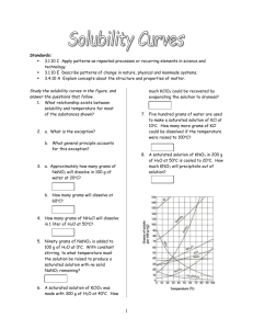 Solubility Curves worksheet all pages 1 thru 4