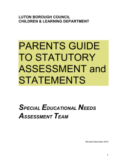 Parents guide to statutory assessment and statements ( 76 kB )
