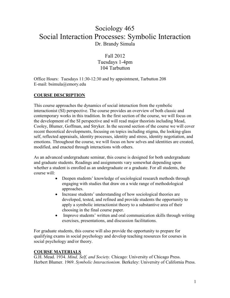 Sociology 465 Brandy L Simula Phd