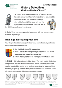 Design your own coat of arms activity