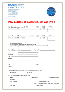 IMO Labels & Symbols on CD (V3) New/upgrade