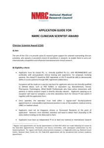 application guide for - National Medical Research Council