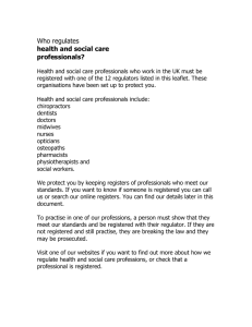 Health and social care professionals