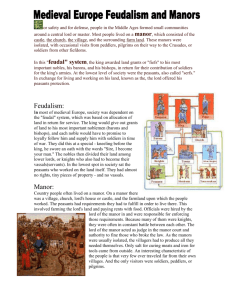 Feudalism and Manors Info page
