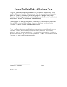General Conflict of Interest Disclosure Form