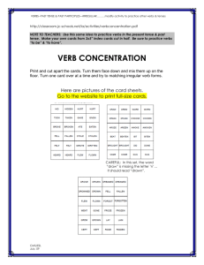 Verb Concentration