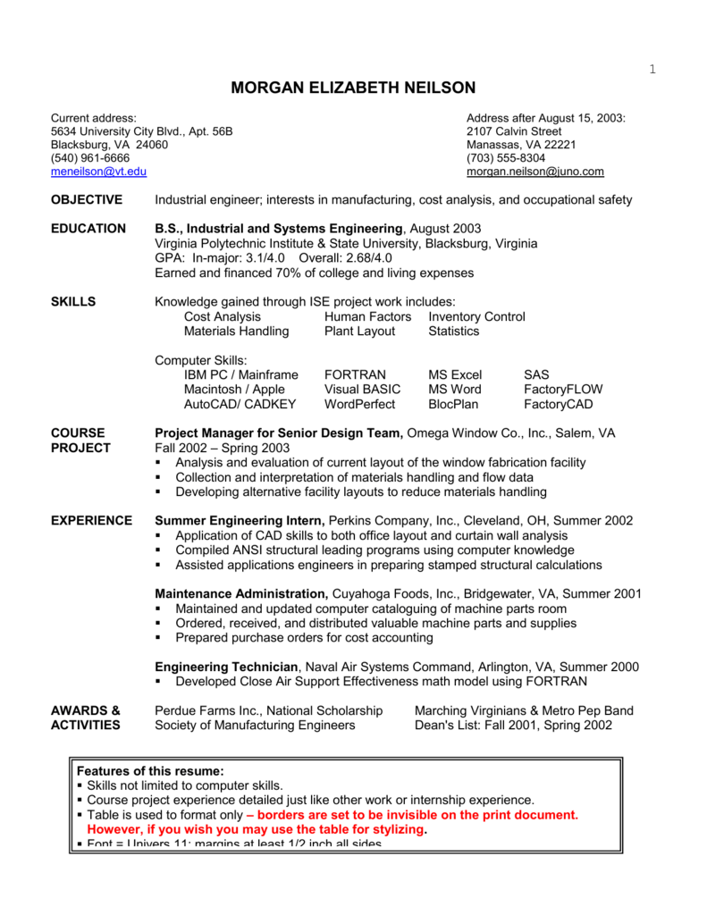 Resume Samples All Formats