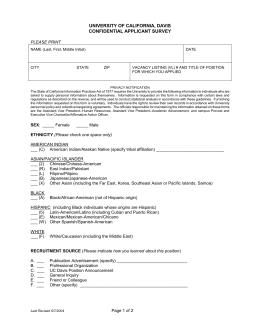 Applicant Voluntary Self-Identification of Veteran Status Boston