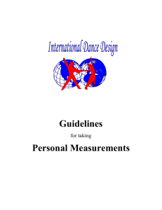 Guidelines for taking Personal Measurements Landmark Terms The