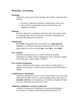 Phonology terminology (MS Word)